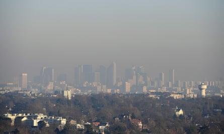 Smog over Paris.