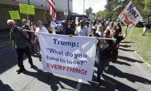 detroit protest donald Trump