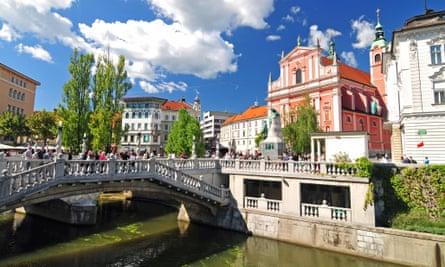 Ljubljana's Triple bridge was completed by celebrated architect Jože Plečnik.
