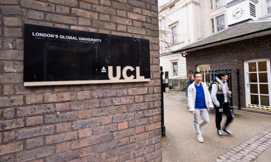 The main entrance to UCL, University College London