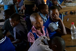 """They cannot concentrate due to hunger,"" assistant school director Tasiana Midzi says of the exhausted children. ""You will find teachers struggling to wake them and make them listen to their lessons."""