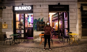 A Milan cocktail bar takes part in a national protest of bar and restaurant owners last week against continuing coronavirus restrictions.