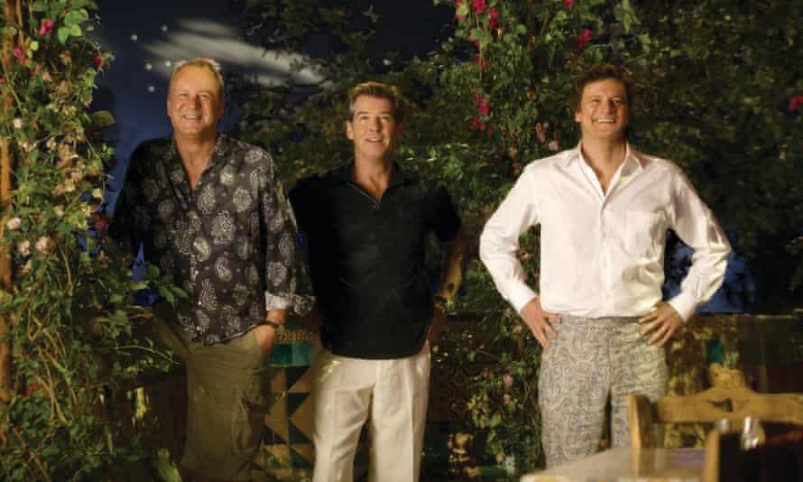 Stellan Skarsgard, Pierce Brosnan and Colin Firth in Mamma Mia!.