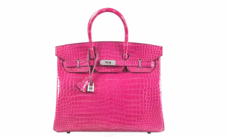 A bright pink Hermes Birkin bag