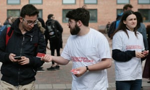 A Labour voter registration drive at Queen Mary, University of London