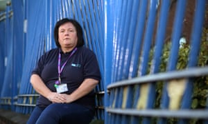 Geraldine Curran, a Belfast hospital cleaner, who earns £1.17 an hour less than the real living wage