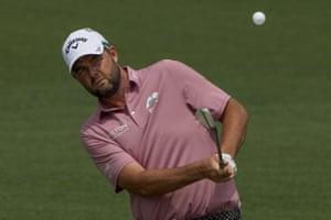 Marc Leishman watchs a shot on the second hole.