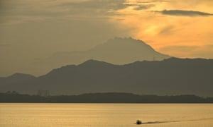 Mt Kinabalu, a World Heritage Site in Sabah, Malaysia.