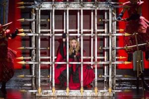 Madonna, at Rod Laver Arena in Melbourne