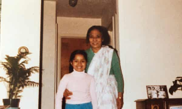 Mintie Das, aged eight, and Dede.