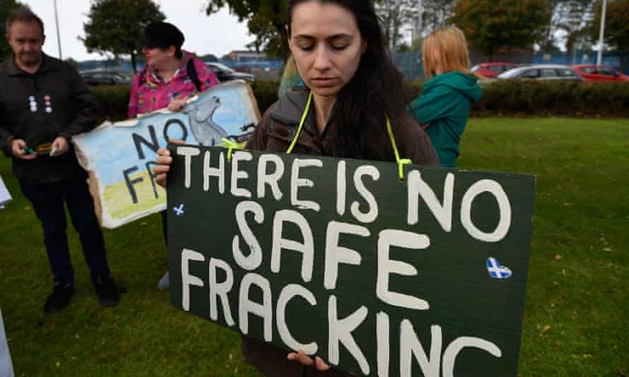 Protests as the first ship carrying shale gas from the US arrives in the Firth of Forth, Scotland