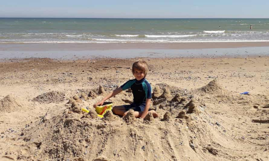 Ted sandcastle beach at Sea Palling.