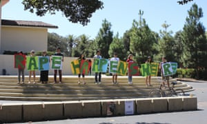 Stanford students protest the handling of sexual assaults at the prestigious university.