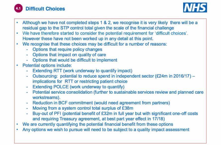 Part of the NHS document.