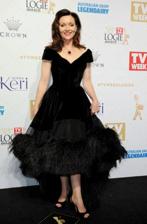 Gold Logie nominee Essie Davis arrives at the 2016 Logie Awards at the Crown Casino in Melbourne
