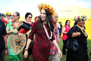 New Zealand prime minister Jacinda Ardern at Polyfest, which celebrates Polynesian culture and heritage.