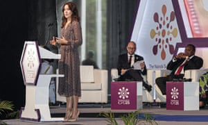 The crown princess of Denmark, Mary, addresses the opening ceremony of the International Conference on Population and Development in Nairobi
