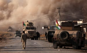 Fighting between peshmerga forces and Isis