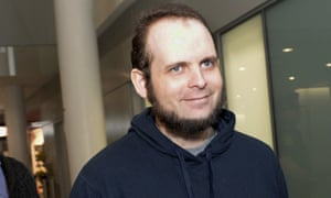 Joshua Boyle at Toronto's Pearson International Airport on 13 October 2017.