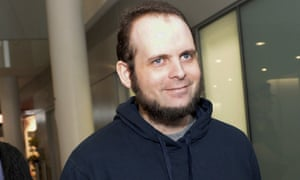 Joshua Boyle after arriving back in Canada in October 2017.