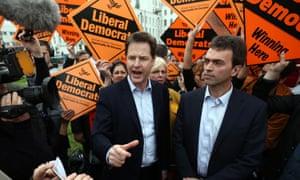 Nick Clegg and Tom Brake