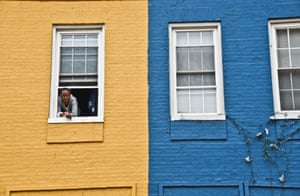 Pamela Alford, 52, looks out of her window in the Station North area where Series Four was filmed, photograph by JM Giordano