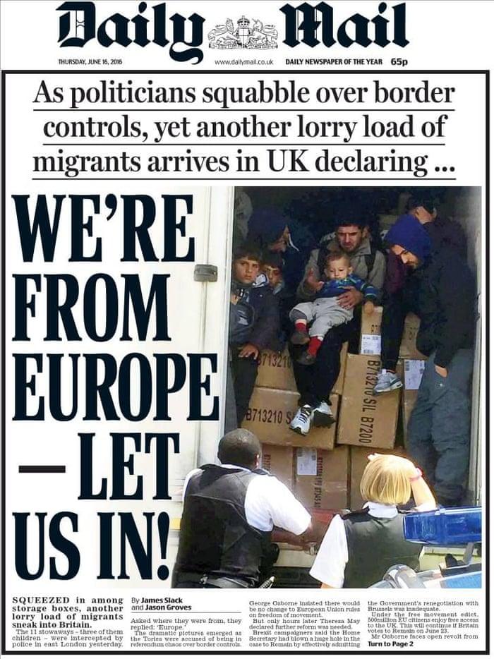Image result for sensational headlines on EU