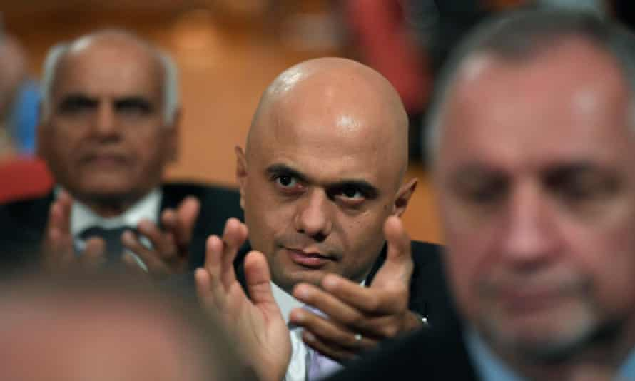 Britain's Communities Secretary Sajid Javid applauds during the Conservative Party conference in Birmingham, Britain October 3, 2016.