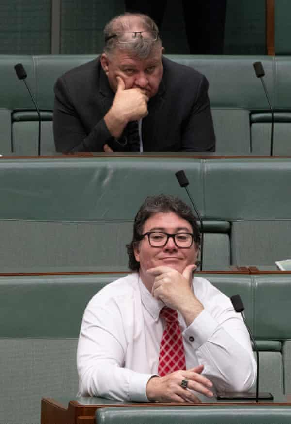 George Christensen, below, and Craig Kelly.