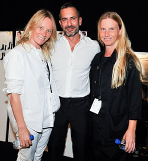 Designers Luella Bartley, Marc Jacobs and Katie Hillier at New York fashion week min September 2014