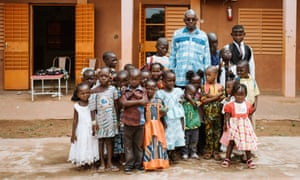 Christophe Oulé outside the school his organisation runs supporting blind and visually impaired children in Ouagadougou.