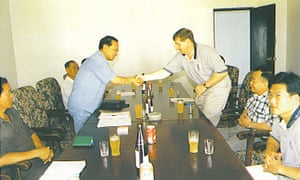Rick Saccone meeting North Korean officials in 2001.