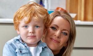 Zoe Desmond with her son.