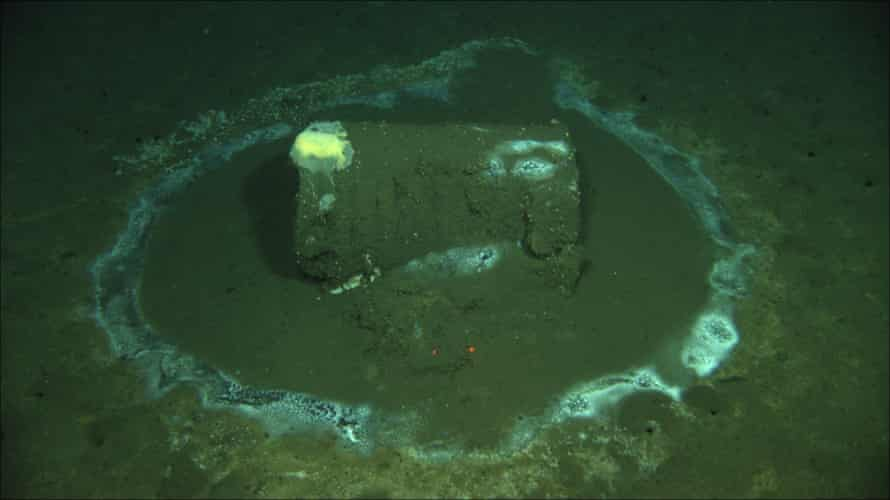 Scientists detected as many as 25,000 barrels on the seafloor.