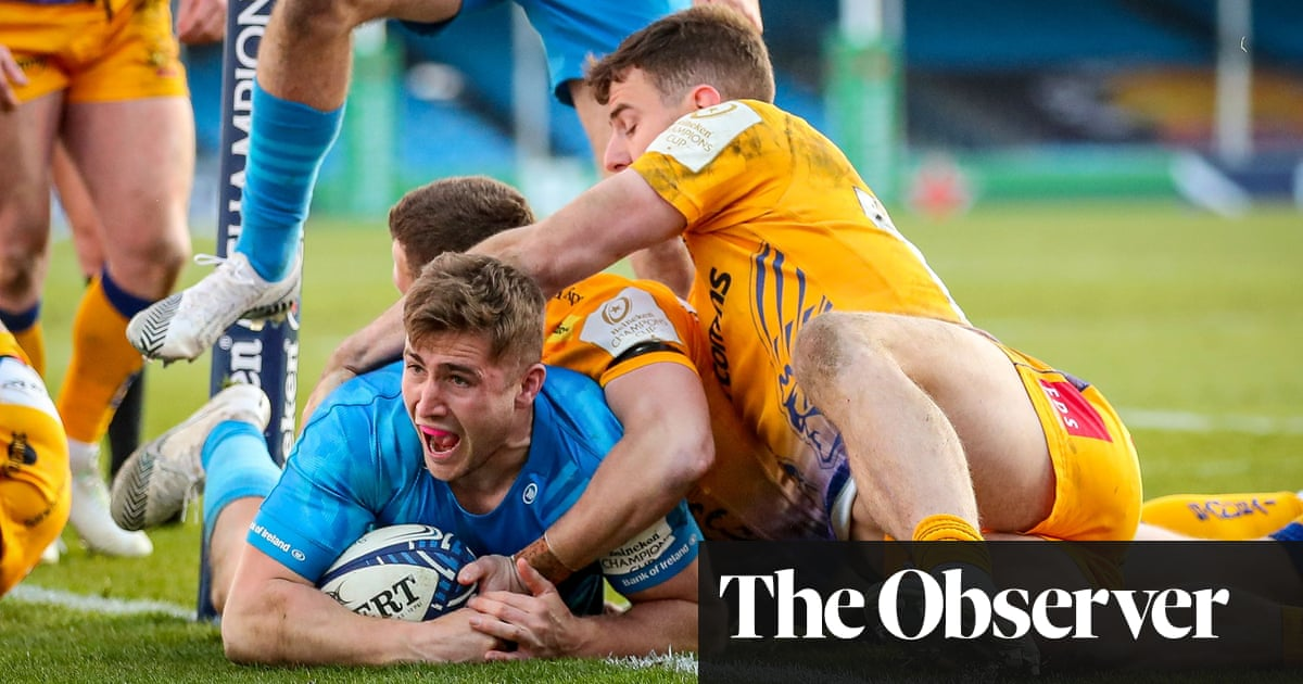 Jordan Larmour strikes twice as Leinster knock out holders Exeter