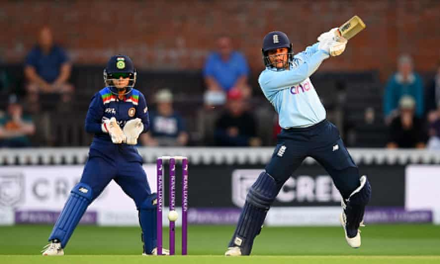 Sophia Dunkley scored an unbeaten 73 for England against India that belied the fact her ODI debut had come three days earlier.