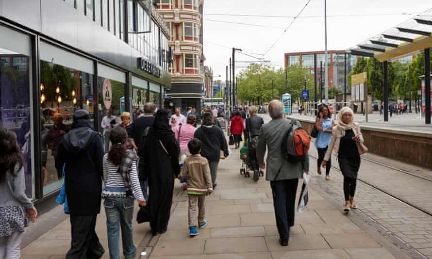 Shoppers in Manchester.