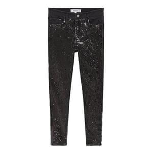 black sequin jeans