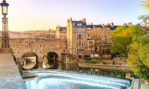 """The 18th-century Pulteney Bridge in Bath. The city is one of many tempting UK locations – now seen as a """"value"""" destination by Lonely Planet."""