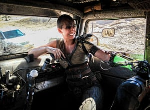 Dayna Grant as Charlize Theron's double in Mad Max: Fury Road.