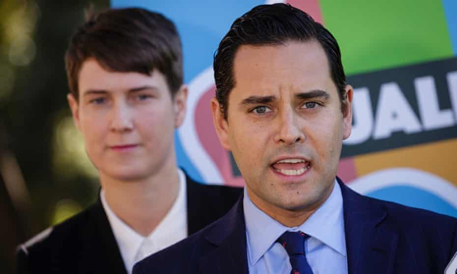 Anna Brown from the Human Rights Law Centre and Alex Greenwich, co-chair of the Equality Campaign