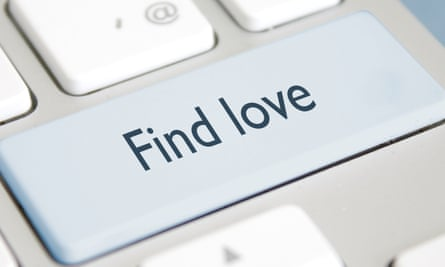 A computer keyboard showing a button called 'find love'