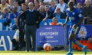 Leicester City boss Claudio Ranieri looks on during their home defeat to Arsenal.