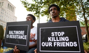 A gathering to remember Freddie Gray, and all victims of police violence, during a rally outside city hall in Baltimore, Maryland.