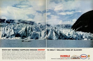 Nothing to boast about … a 1962 ad for Humble Oil.