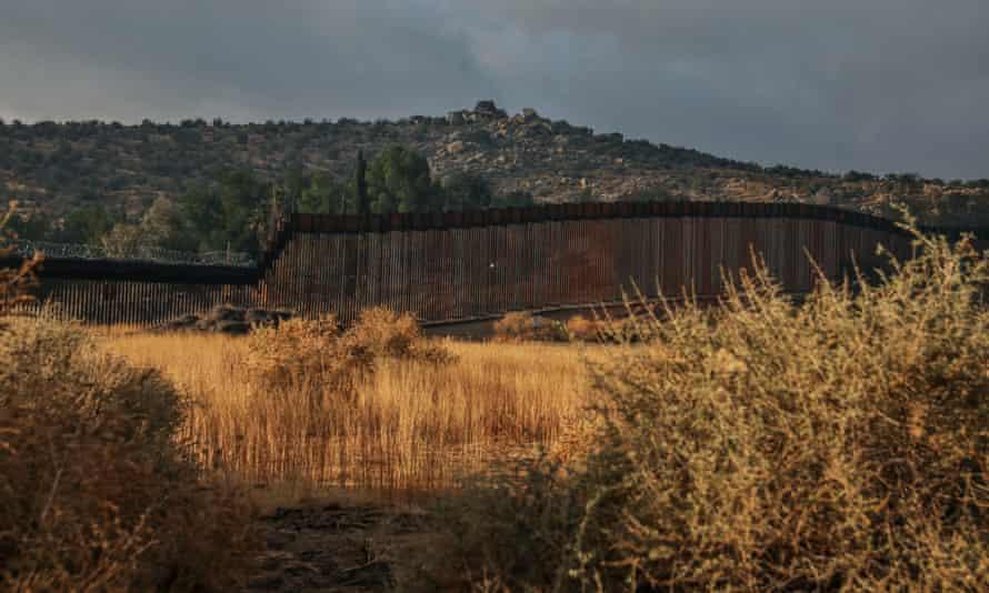 The wall at Jacumba, California, on 22 January.