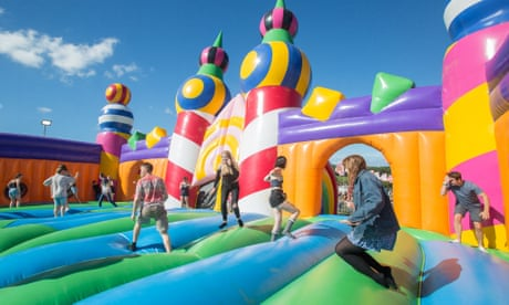Ball pits and bouncy castles for adults: good clean fun or desperate  nostalgia?