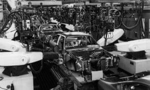 An automobile production line