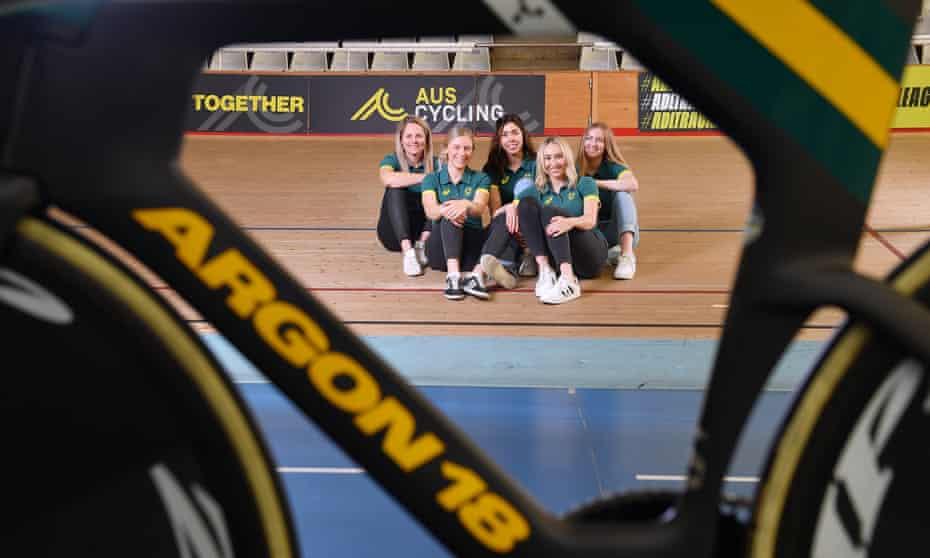 The Australian women's endurance track cycling team