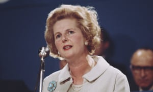 "Margaret Thatcher during her ""there is no alternative"" speech in 1967"